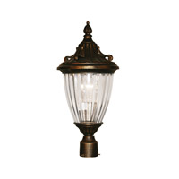 Z-Lite Waterloo 1 Light Post Light in Black Gold 504PHM-BG