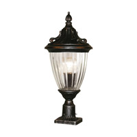 Z-Lite Waterloo 1 Light Post Light in Black Silver 504PHM-BS-PM