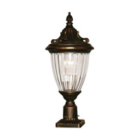 Z-Lite Waterloo 1 Light Post Light in Black Gold 504PHS-BG-PM