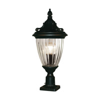 Z-Lite Waterloo 1 Light Post Light in Black 504PHS-BK-PM
