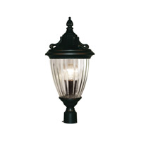Z-Lite Waterloo 1 Light Post Light in Black 504PHS-BK