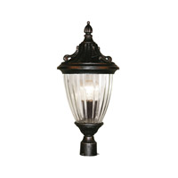 Z-Lite Waterloo 1 Light Post Light in Black Silver 504PHS-BS
