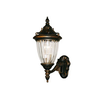 Z-Lite Waterloo 1 Light Outdoor Wall Light in Black Gold 504S-BG