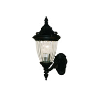 Z-Lite Waterloo 1 Light Outdoor Wall Light in Black 504S-BK