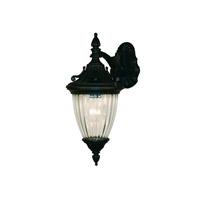Z-Lite Waterloo 1 Light Outdoor Wall Light in Black 505S-BK