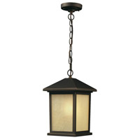 Z-Lite 507CHB-ORB Holbrook 1 Light 10 inch Oil Rubbed Bronze Outdoor Chain Mount