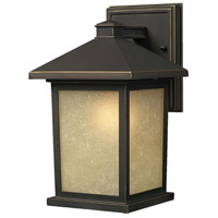 Z-Lite 507M-ORB Holbrook 1 Light 14 inch Oil Rubbed Bronze Outdoor Wall Sconce in Tinted Seedy photo thumbnail