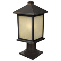 Z-Lite 507PHM-533PM-ORB Holbrook 1 Light 18 inch Oil Rubbed Bronze Outdoor Post in Tinted Seedy