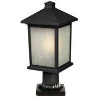 Z-Lite Holbrook 1 Light Post Light in Black 507PHM-BK-PM