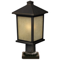 Z-Lite 507PHM-ORB-PM Holbrook 1 Light 18 inch Oil Rubbed Bronze Outdoor Post in Olde Rubbed Bronze
