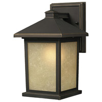 Holbrook 1 Light 11 inch Oil Rubbed Bronze Outdoor Wall Sconce in Tinted Seedy