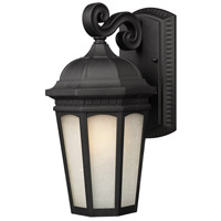 Z-Lite Newport 1 Light Outdoor Wall Light in Black 508B-BK