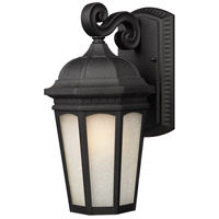 Newport 1 Light 16 inch Black Outdoor Wall Sconce