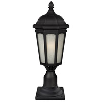 Z-Lite Newport 1 Light Outdoor Pier Mount Light in Black 508PHB-533PM-BK