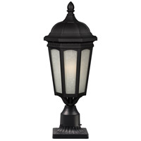 Newport 1 Light 26 inch Black Outdoor Post Light