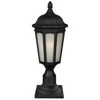 Newport 1 Light 22 inch Black Outdoor Post