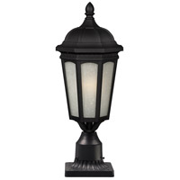 Newport 1 Light 22 inch Black Post Mount Light