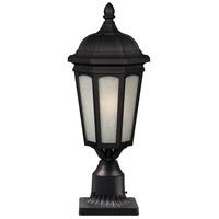 Z-Lite Newport 1 Light Post Light in Black 508PHM-BK-PM photo thumbnail