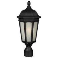Newport 1 Light 20 inch Black Post Mount Light