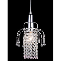 Z-Lite Petite 1 Light Mini Chandelier in Chrome 51029