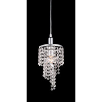 Signature 1 Light 6 inch Chrome Mini Chandelier Ceiling Light