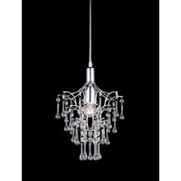 Petite 1 Light 9 inch Chrome Mini Chandelier Ceiling Light