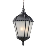 Z-Lite Waverly 4 Light Outdoor Chain Light in Black 513CHB-BK