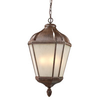 Z-Lite Waverly 4 Light Outdoor Chain Light in Weathered Bronze 513CHB-WB