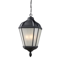 Waverly 3 Light 11 inch Black Outdoor Chain Light