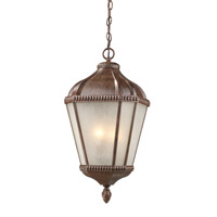 Z-Lite Waverly 3 Light Outdoor Chain Light in Weathered Bronze 513CHM-WB