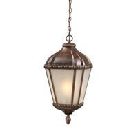 Z-Lite Waverly 1 Light Outdoor Chain Light in Weathered Bronze 513CHS-WB