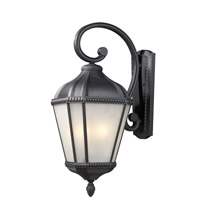 Waverly 3 Light 27 inch Black Outdoor Wall Sconce
