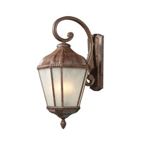 Z-Lite Waverly 3 Light Outdoor Wall Light in Weathered Bronze 513M-WB