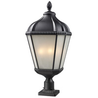 Waverly 4 Light 30 inch Black Outdoor Post
