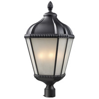 Z-Lite Waverly 4 Light Post Light in Black 513PHB-BK