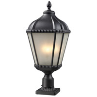 Waverly 3 Light 27 inch Black Outdoor Post