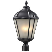 Waverly 3 Light 25 inch Black Outdoor Post
