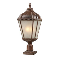 Z-Lite Waverly 3 Light Post Light in Weathered Bronze 513PHM-WB-PM