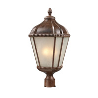 Z-Lite Waverly 3 Light Post Light in Weathered Bronze 513PHM-WB