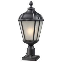 Z-Lite 513PHS-BK-PM Waverly 1 Light 25 inch Black Outdoor Pier Mounted Fixture