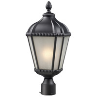 Waverly 1 Light 23 inch Black Outdoor Post