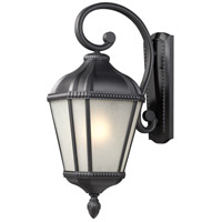 Z-Lite Waverly 1 Light Outdoor Wall Light in Black 513S-BK