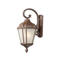 Z-Lite Waverly 1 Light Outdoor Wall Light in Weathered Bronze 513S-WB photo thumbnail