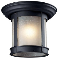 Z-Lite Signature 1 Light Outdoor Flush Mount Light in Black 514F-BK