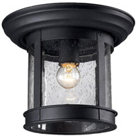 Z-Lite Signature 1 Light Outdoor Flush Mount Light in Black 515F-BK