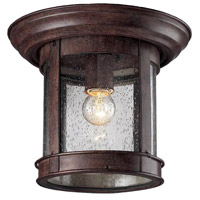 Z-Lite Signature 1 Light Outdoor Flush Mount Light in Weathered Bronze 515F-WB