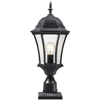 Z-Lite 522PHM-BK-PM Wakefield 1 Light 24 inch Black Post Mount Light