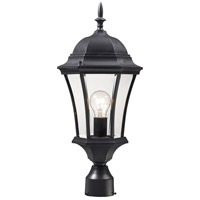 Z-Lite 522PHM-BK Wakefield 1 Light 22 inch Black Outdoor Post Mount Fixture