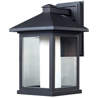 Mesa 1 Light 16 inch Black Outdoor Wall Light