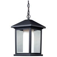 Z-Lite 523CHB Mesa 1 Light 10 inch Black Outdoor Chain Mount Ceiling Fixture